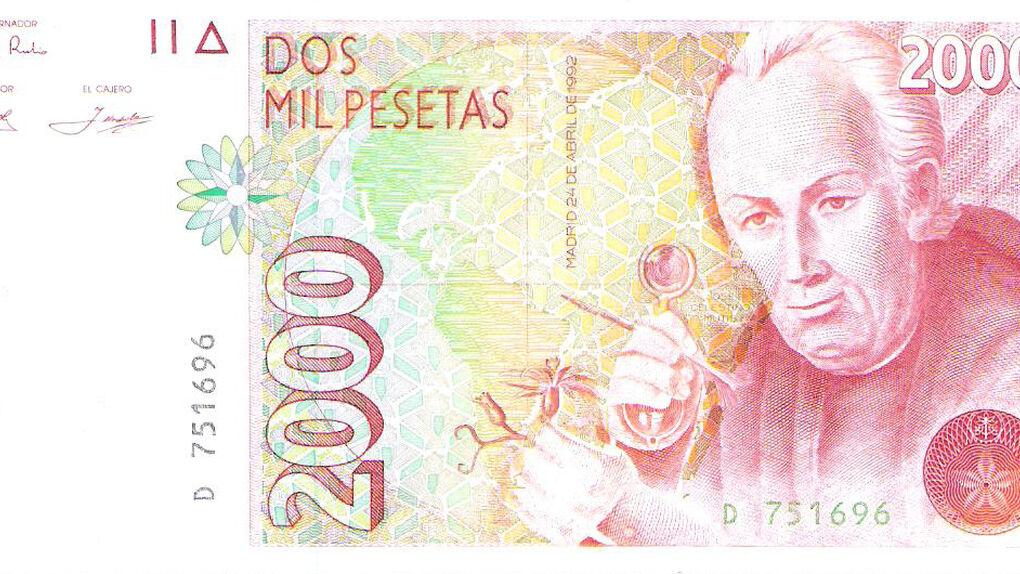 Mutis, el botánico de las 2.000 pesetas