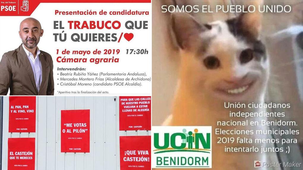 """De """"el trabuco que tú quieres"""" a """"centrados en tías"""": los carteles más locos para las elecciones del 26M"""