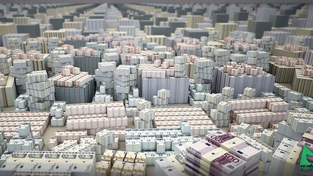 ¿Cuánto ocupan todos los billetes que circulan por Europa?