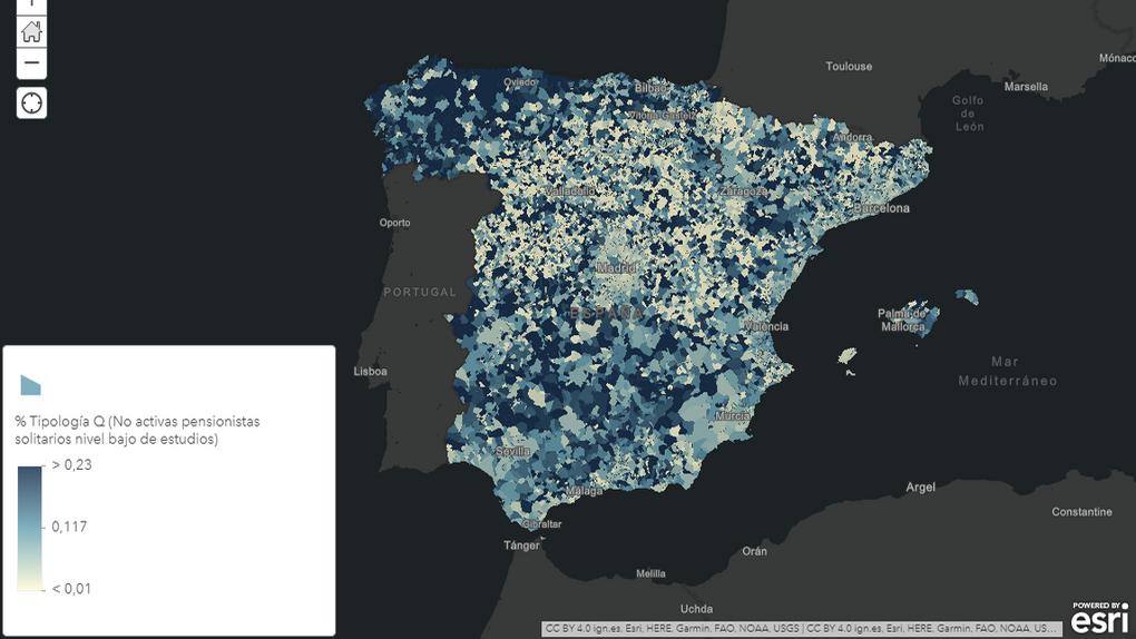 Diseñan un mapa para localizar a los 2,3 millones de mayores que viven solos en España
