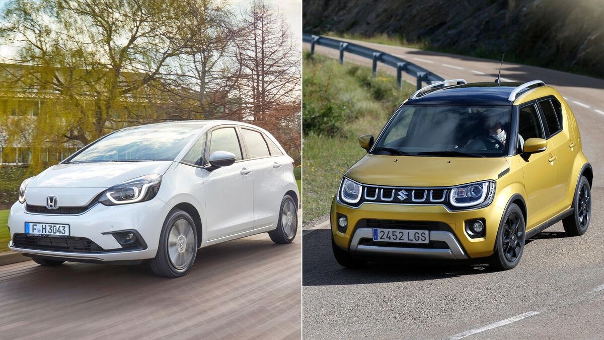 Dos opciones ECO para la ciudad: Honda Jazz Hybrid y Suzuki Ignis MHEV