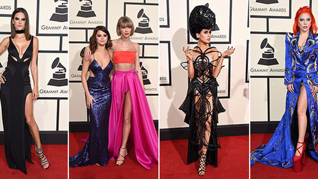 Especial Grammys: transparencias y los vestidos más bizarros