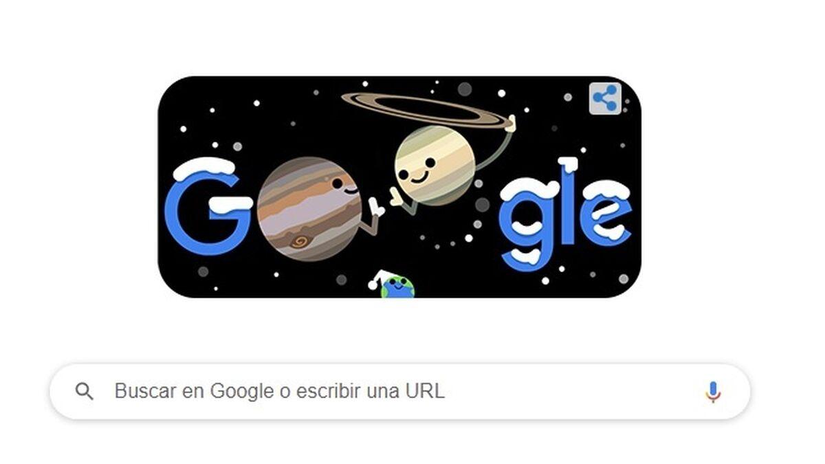 Google dedica su doodle al solsticio de invierno y a la estrella de Belén que no se veía hace 800 años