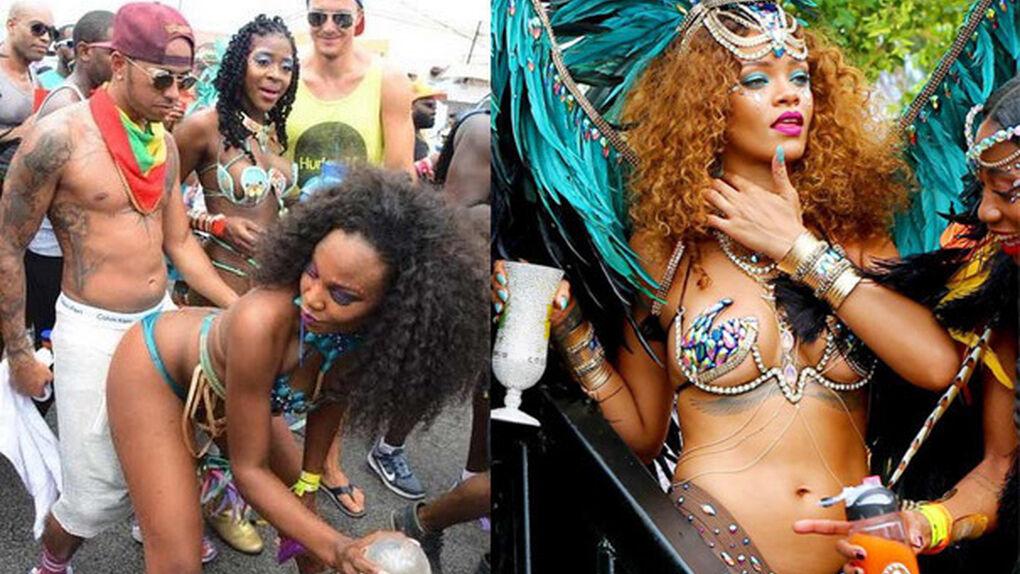 El Carnaval más caliente y sensual de Hamilton y Rihanna en el Caribe