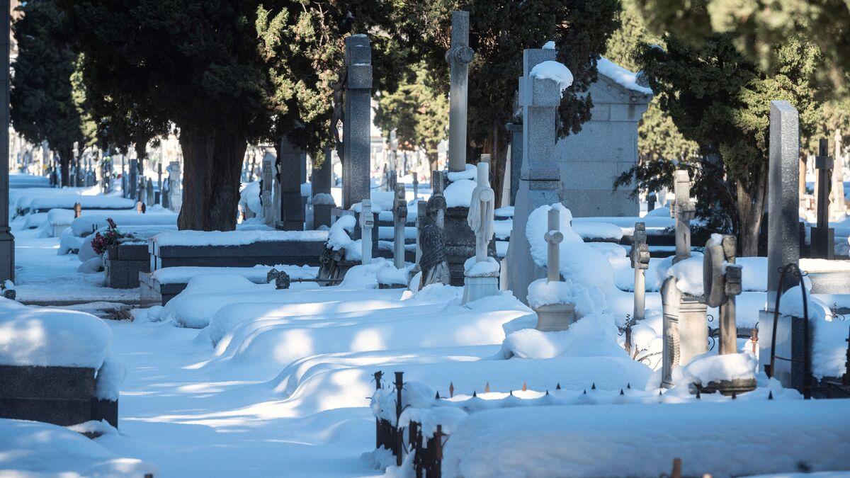 """""""¿Dónde está mi padre?"""": una semana de caos por la nieve en el cementerio de Toledo"""