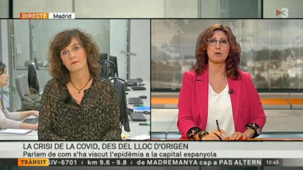 """TV3 sitúa el """"origen"""" del coronavirus en Madrid"""