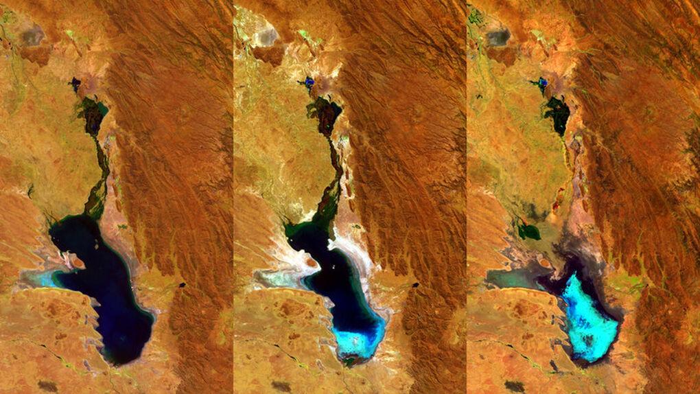 La desaparición de un lago vista desde el espacio