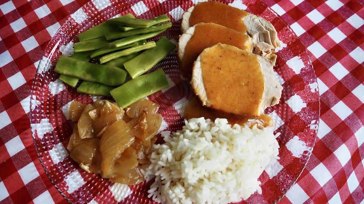 'Slow cooker': lomo de cerdo adobado con naranja cocinado a baja temperatura