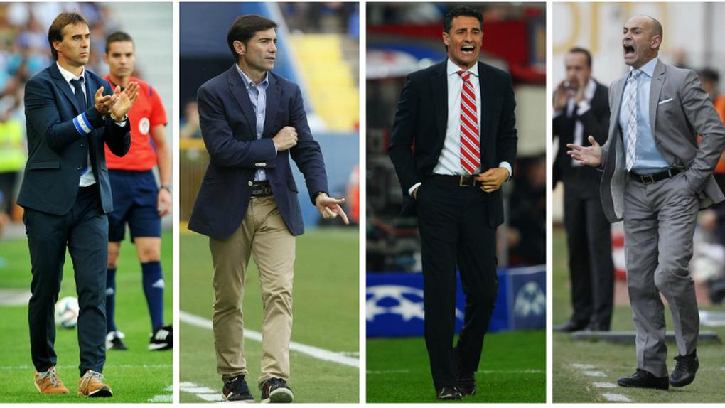 Candidatos a suplir a Del Bosque: Lopetegui, Marcelino, Míchel y Paco Jémez