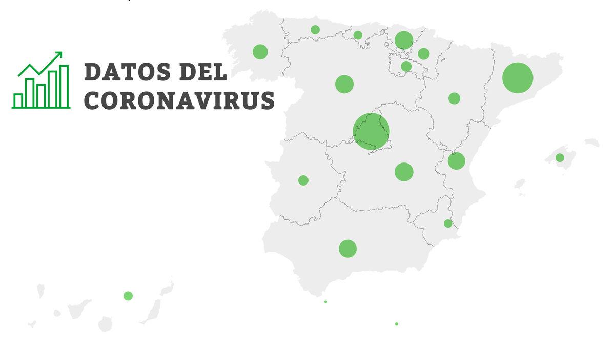 Coronavirus en España: mapa y datos sobre contagios, muertes e incidencia