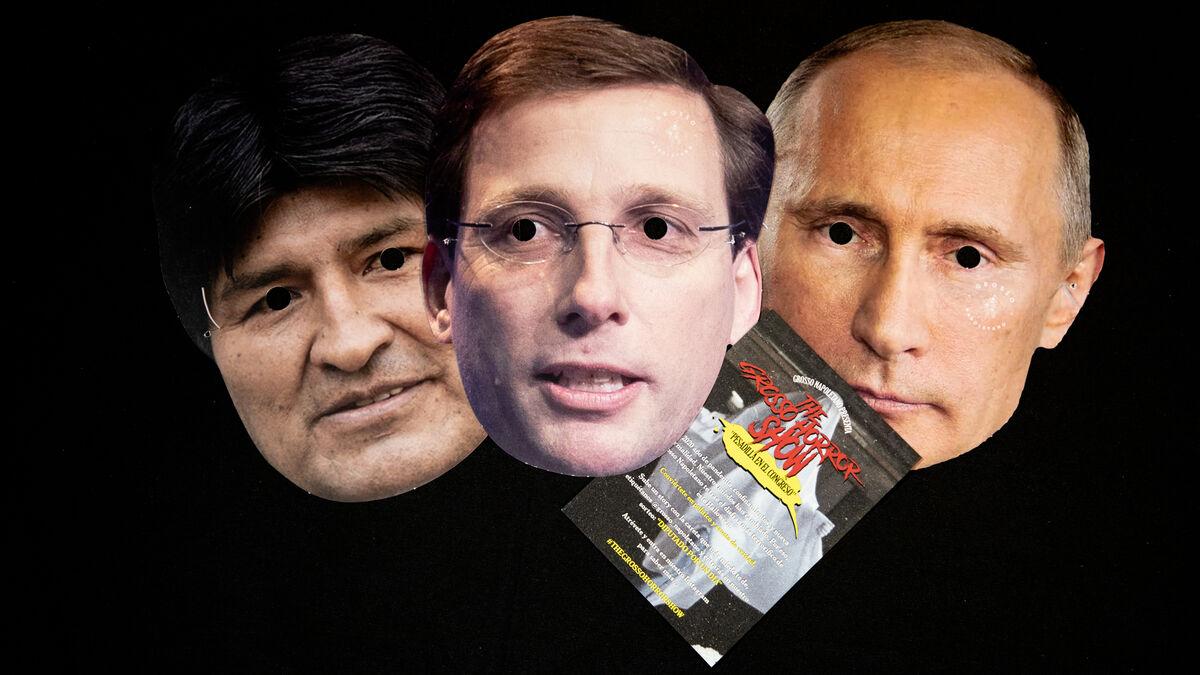 Un restaurante 'equipara' a Almeida, Ayuso y Abascal con Trump, Putin o Jong-un en una campaña