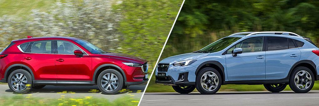 Mazda CX-5 y Subaru XV: dos SUV japoneses con tracción total, mucha personalidad... y muy diferentes