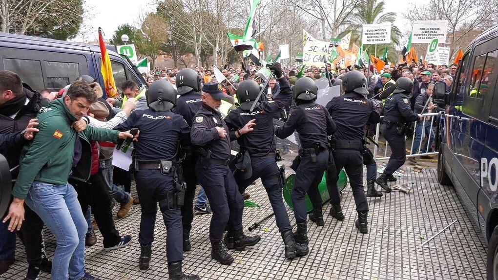 Miles de personas se manifiestan en Don Benito (Badajoz) para reclamar precios justos en el campo extremeño