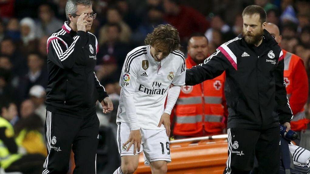 Modric sufre un esguince de ligamento en la rodilla derecha y estará seis semanas de baja