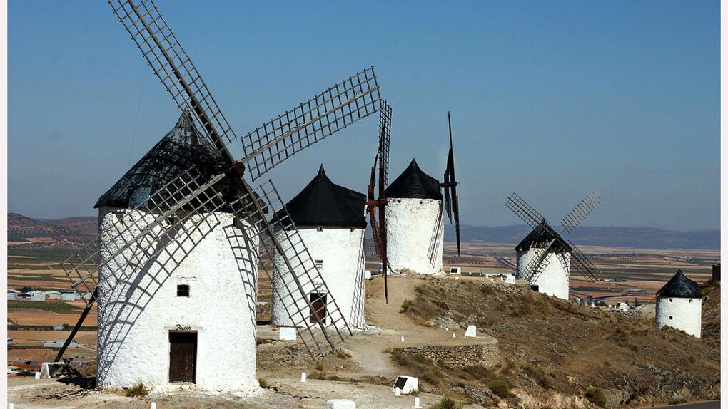 Una ruta de molinos de viento