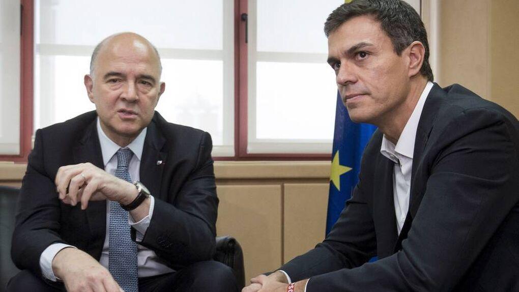 """Moscovici, sobre Sánchez: """"No tengo palabras"""""""