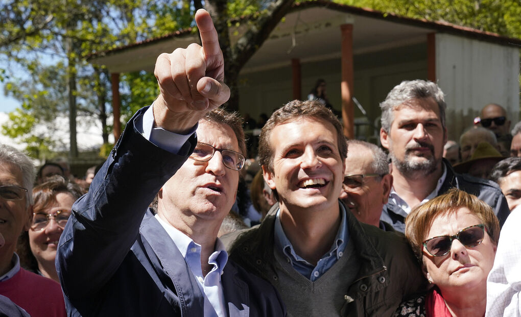 Casado y Feijóo escenifican una tregua en la recta final de la campaña