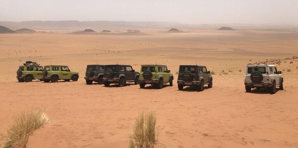 Diez Jimny y un desafío: cinco días por el desierto cruzando Marruecos