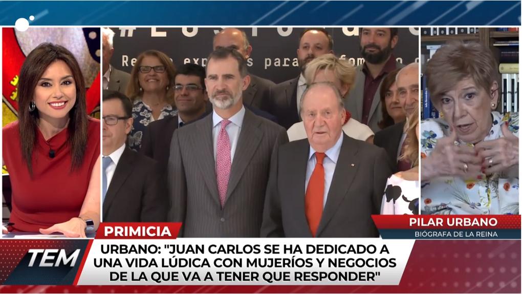 """Pilar Urbano afirma que Juan Carlos I se refirió a Corinna como """"putón verbenero"""" cuando la conoció"""