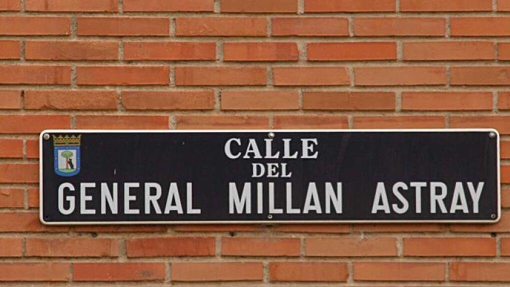 La Justicia madrileña obliga al Ayuntamiento a mantener la calle Millán Astray en el callejero