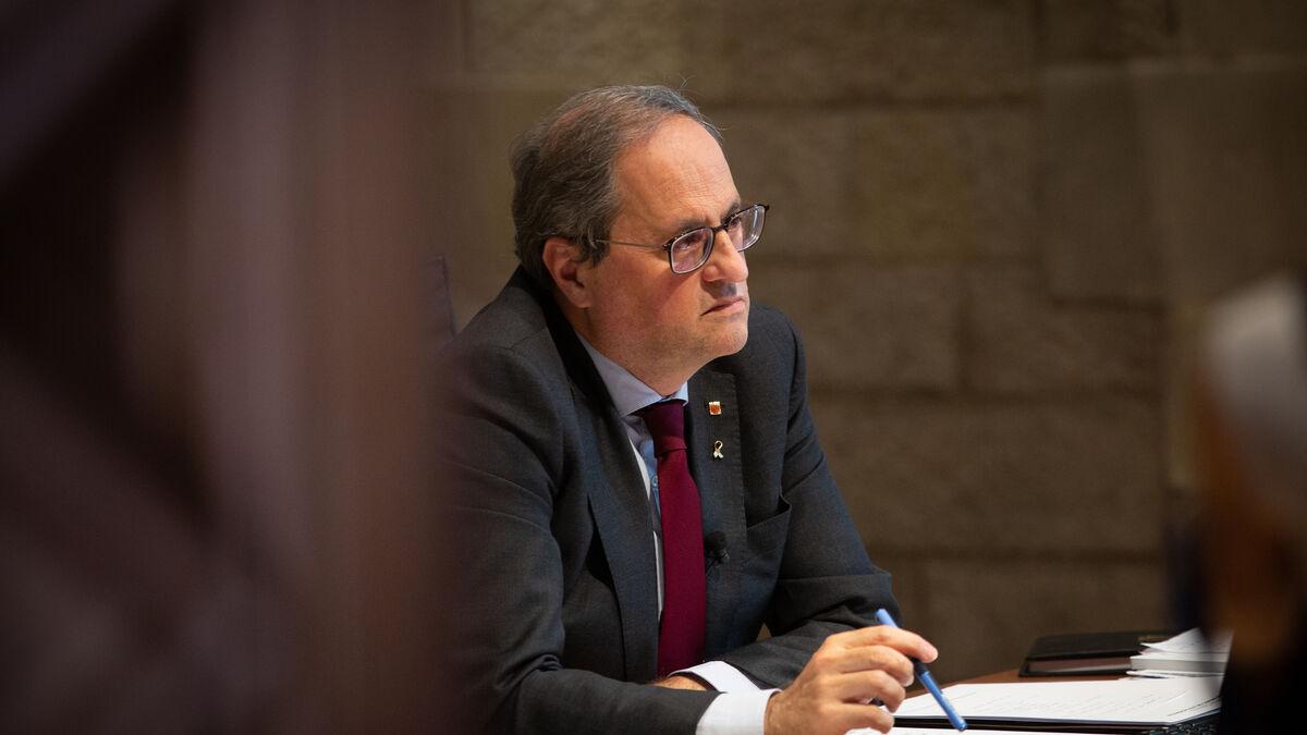 """Un exlíder de Podemos en Cataluña llama """"pagafantas"""" al partido por criticar la inhabilitación de Torra"""