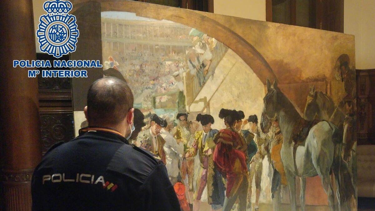 La Policía recupera en Bruselas un cuadro de Joaquín Sorolla y detiene a un condenado en el 'caso Malaya'