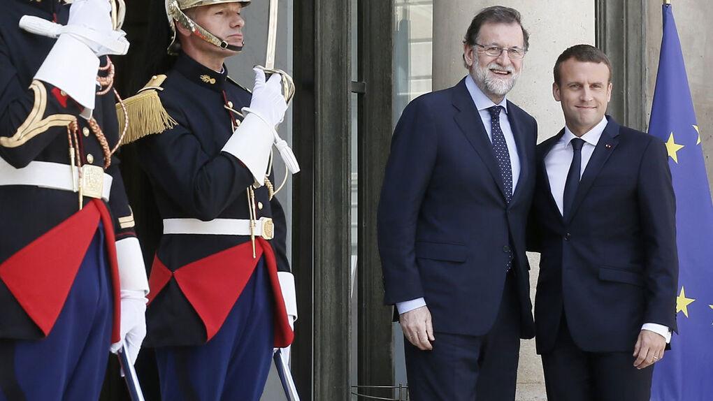 Rajoy abre su agenda internacional en París con Macron, Merkel y Gentiloni