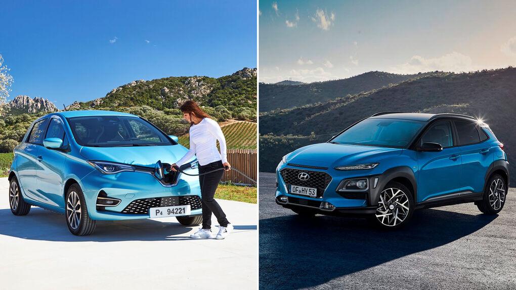 Zoe y Kona híbrido: nos subimos a los nuevos ecológicos de Renault y Hyundai