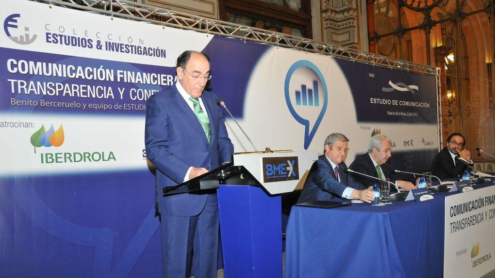 Sánchez Galán y la comunicación financiera