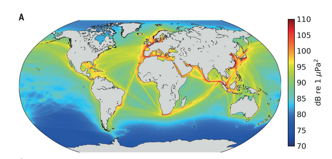Sonidos humano en el océano a 100 Hz