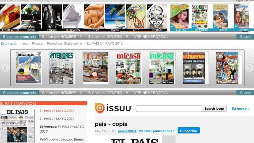 'Spanishmarket' elimina de su portal los libros y periódicos pirateados