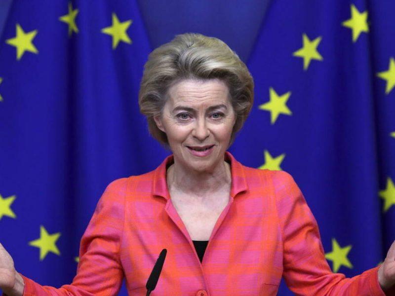 La presidenta de la Comisión Europea, Ursula von der-leyen.
