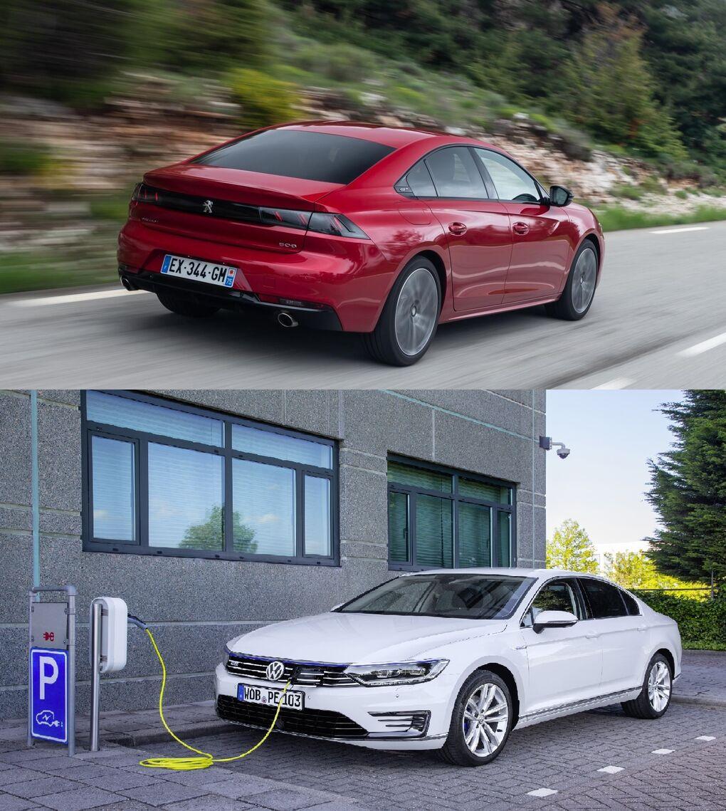 Peugeot 508 PureTech frente a VW Passat Híbrido: dos berlinas para viajar alternativas al diésel... y al SUV