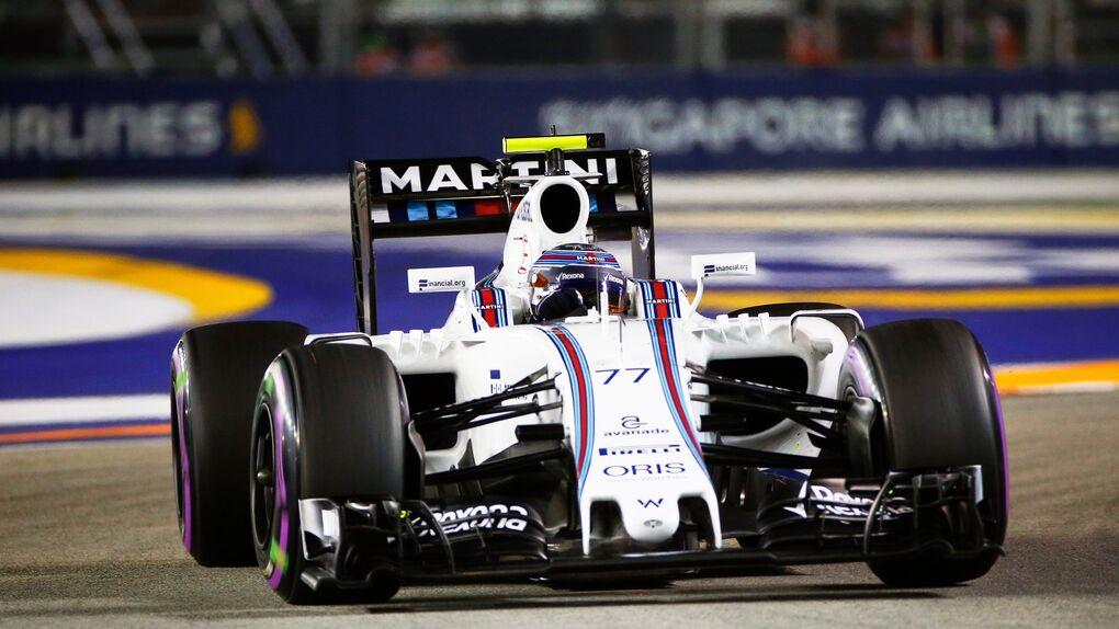 Temeridad en Williams: Bottas corrió sin cinturón de seguridad a 300 km/h por las calles de Singapur