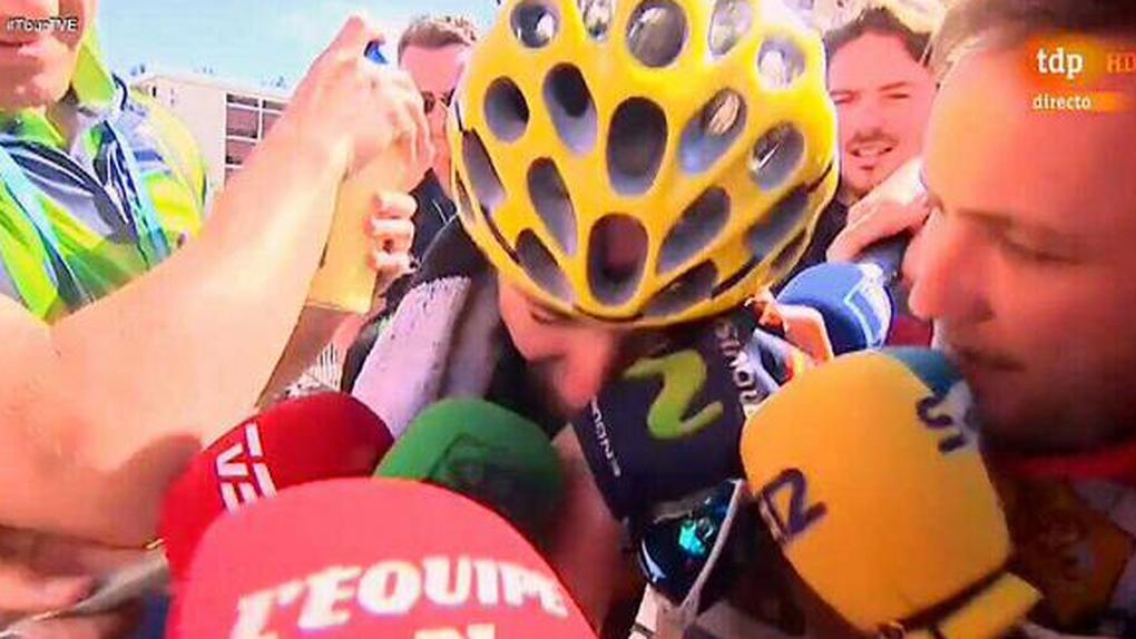 """Valverde se derrumbó en la meta: """"Es lo que he perseguido toda mi vida"""""""