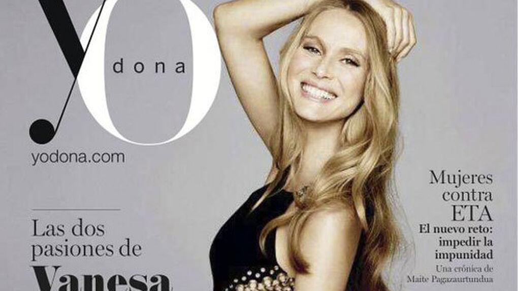 Vanesa Lorenzo, novia de Carles Puyol, luce su embarazo del jugador del Barça en la portada de 'Yo dona'