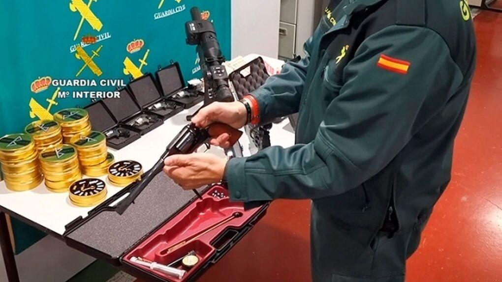 Cuatro detenidos en Madrid y Barcelona por tráfico de armas