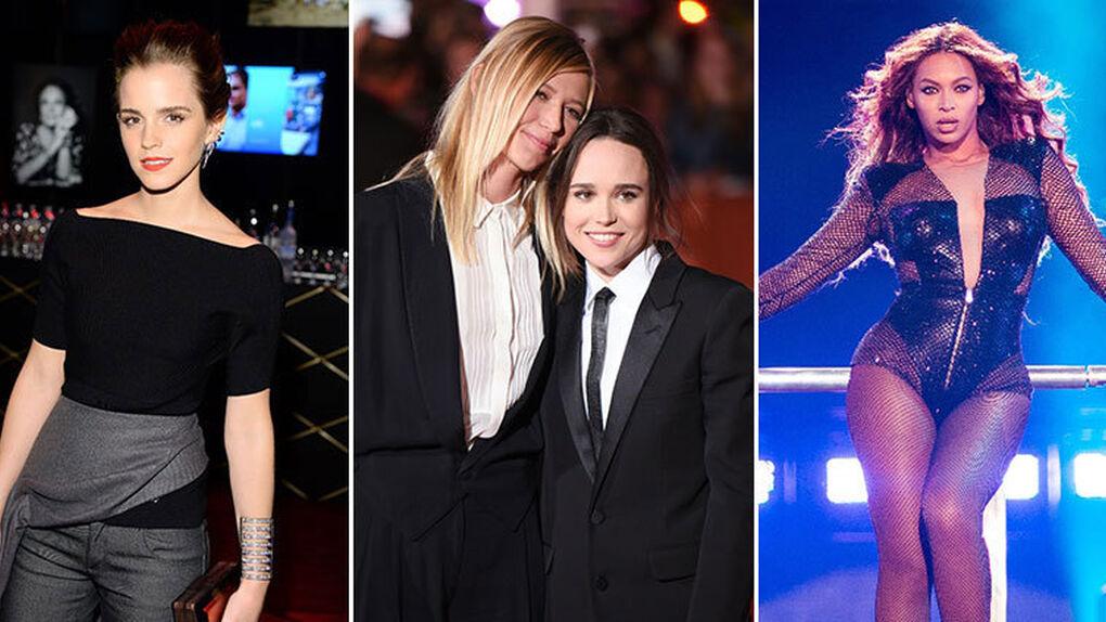 Feministas: los famosos se muestran más reivindicativos que nunca (y una utopía para lesbianas)