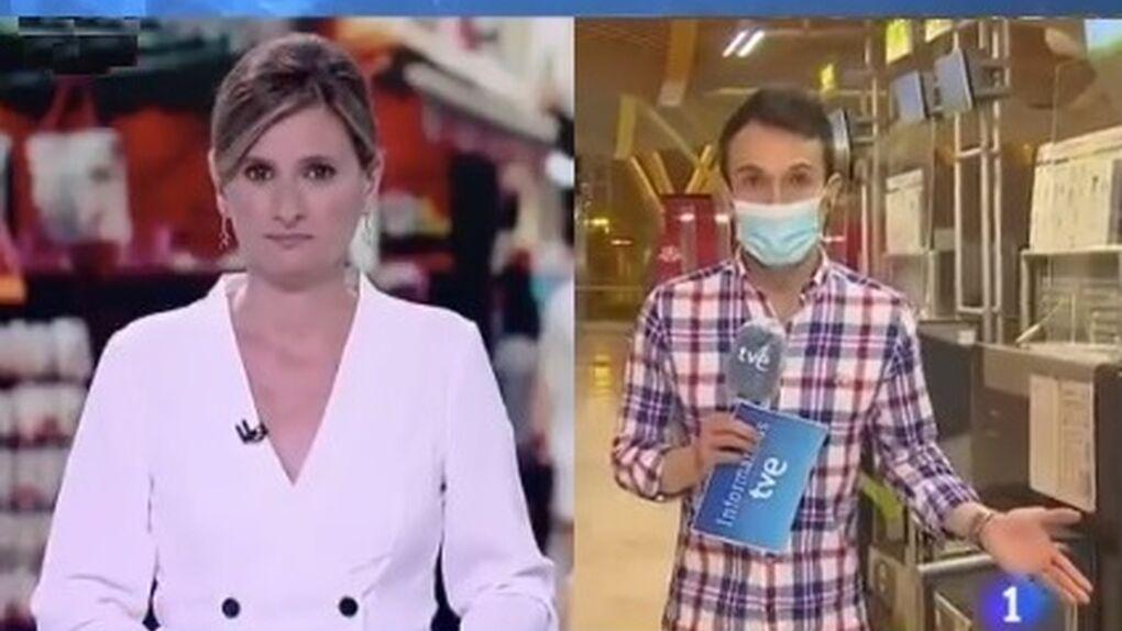 Se hace viral la imitación a Papuchi de un reportero en el Telediario de TVE