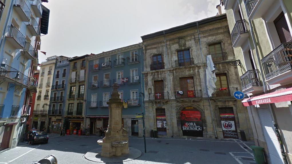 Desalojan el palacio Marqués de Rozalejo en Pamplona, okupado desde 2017