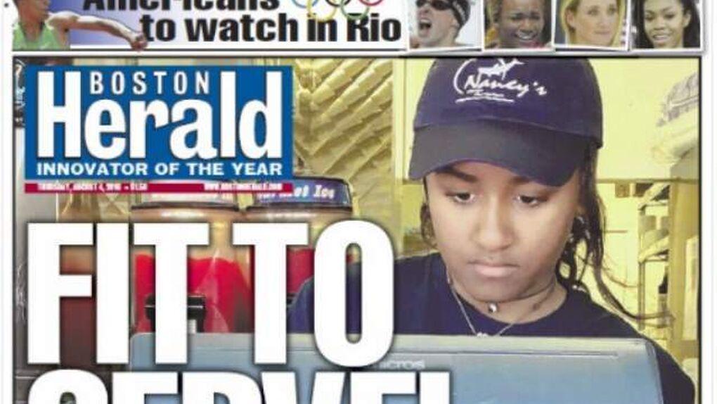 La hija menor de Obama, Sasha, se pone a trabajar de camarera en verano