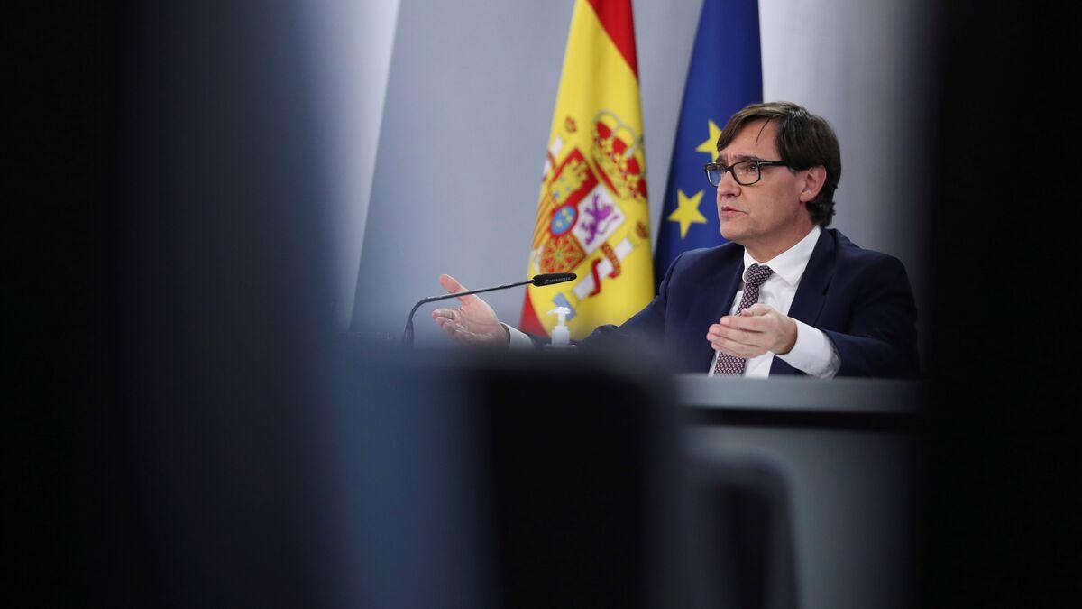 Salvador Illa, candidato del PSC en las elecciones de Cataluña del 14-F