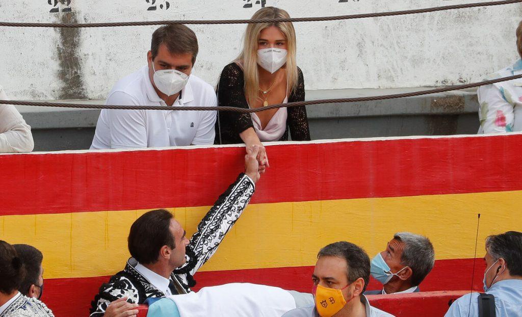 Ana Soria, en una corrida de toros de su novio, Enrique Ponce