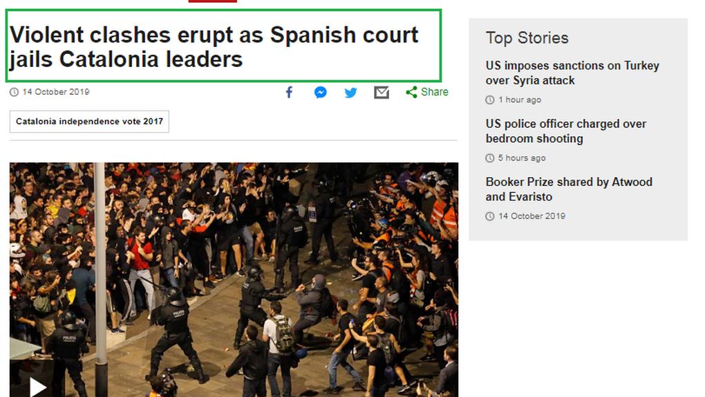 Qué dice la prensa internacional sobre la sentencia del 'procés' y las protestas