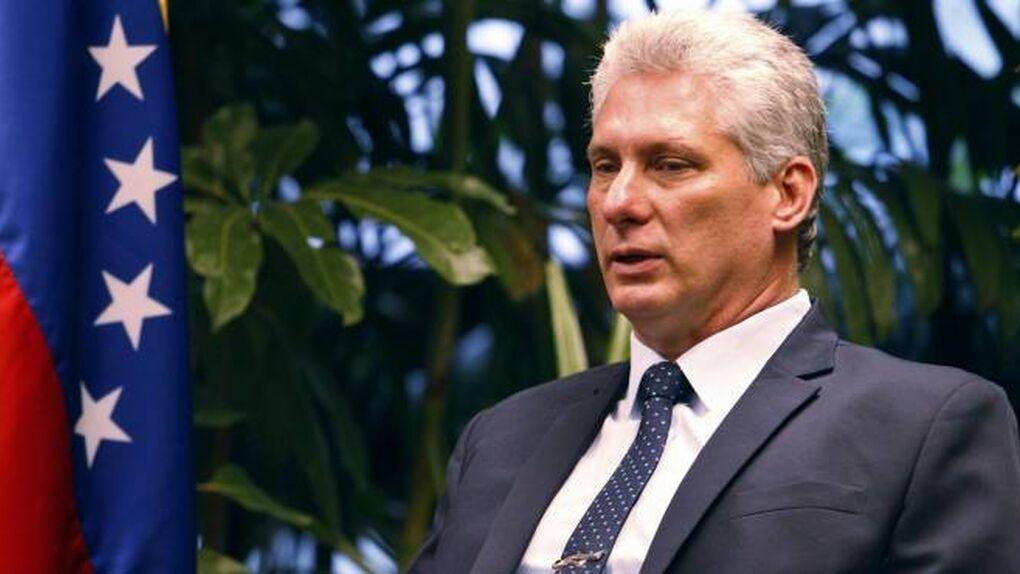 El presidente de Cuba, Miguel Díaz Canel