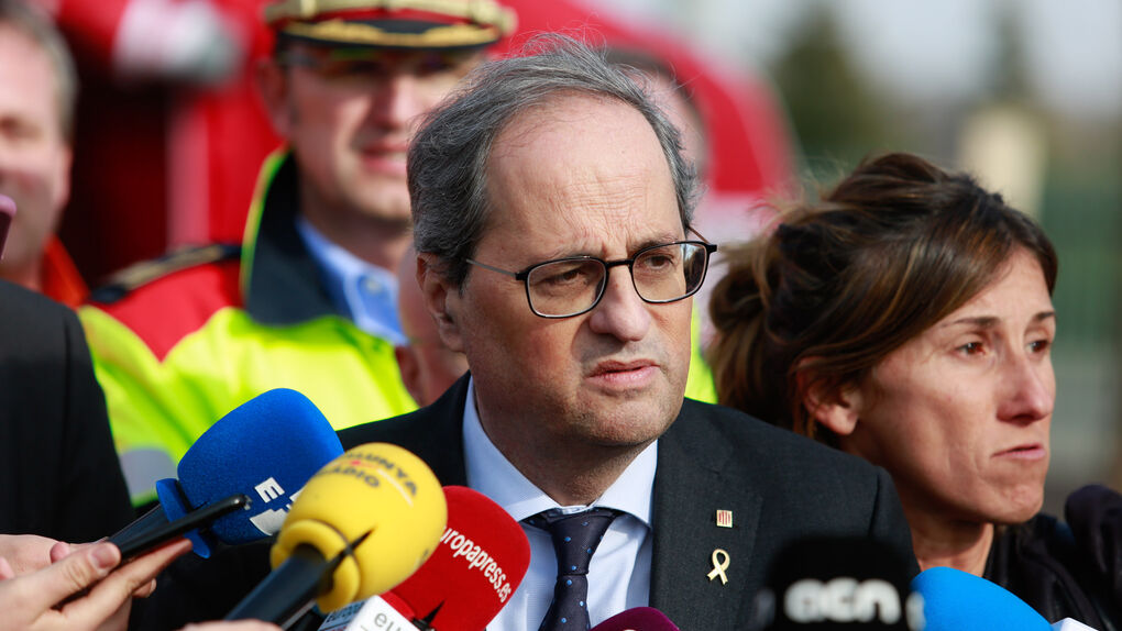 Torra eleva el nivel de idioma catalán exigido para ser bombero de la Generalitat