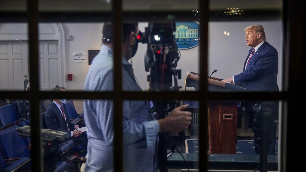Las televisiones cortan y desmienten a Trump tras lanzar graves acusaciones sin pruebas