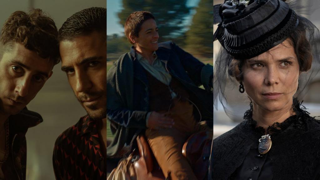 Fotogramas de las series Sky rojo, Libertad y La tamplanza.