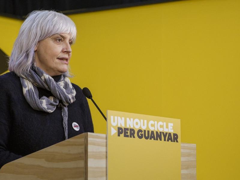 La candidata de la CUP a la Generalitat,, Dolors Sabater.