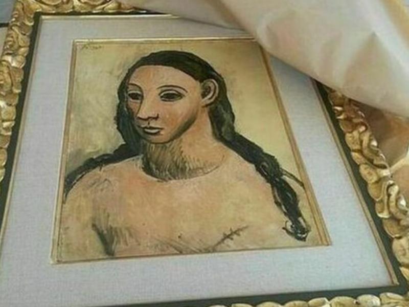 Cuadro cabeza de mujer Picasso